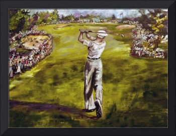 Golf Painting Ben Hogan Merion 18th Hole