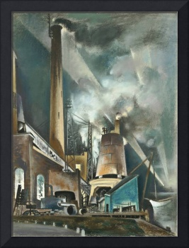 Preston Dickinson~Power Station-Night