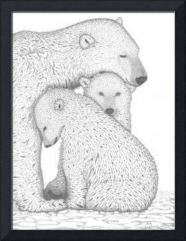 'A Tender Moment'(Polar Bears)