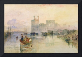 View of Carnarvon Castle by Joseph Turner