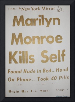 Marilyn Monroe Kills Self Golden Anniversary (whit