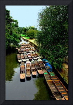 Punts in Oxfordshire England