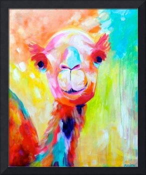 Dino - Abstract Camel Painting