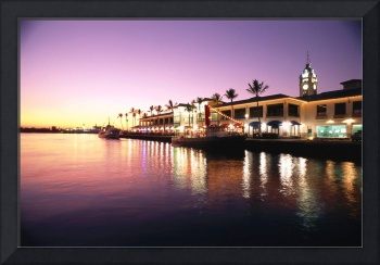 Hawaii, Oahu, View Of Aloha Tower And Harbor At Su