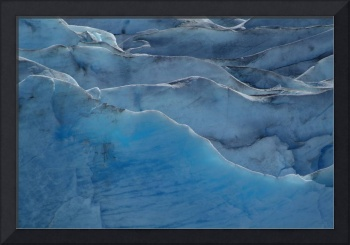 Ice Abstract, Reid Glacier, Glacier Bay National P