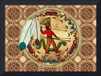 The Warrior Native American Folk Art