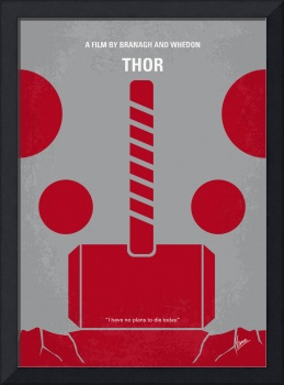 No232 My THOR minimal movie poster