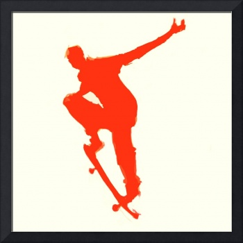 Skateboarder 1 . tan red (c)