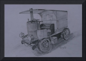 Steam Car in Graphite