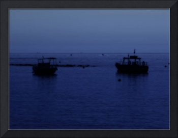Boats in Blue