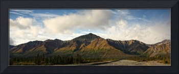 Mountains In Kluane National Park At Sunrise, Near
