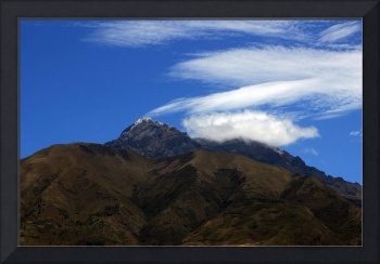 Cloud Patterns Over a Mountain