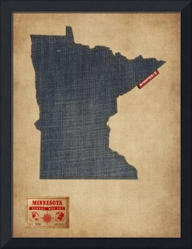 Minnesota Map Denim Jeans Style