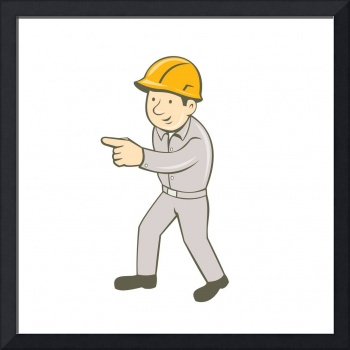 Builder Construction Worker Thumbs Up Cartoon