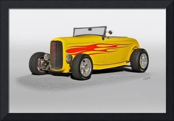 1932 Ford Roadster w Flames