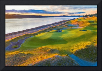 Chambers Bay Golf Course, Hole #17, 2019-1