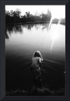 Boy and Water in Vermont