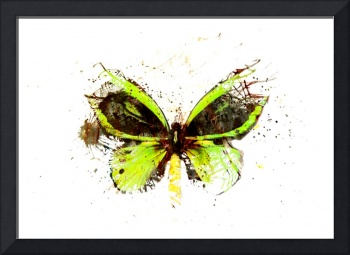 Forgotten - Green Butterfly - Art - Digital Print