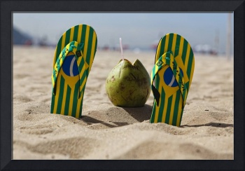 Flip-Flops and a Coconut, Copacabana Beach