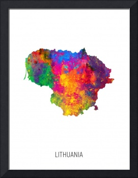 Lithuania Watercolor Map