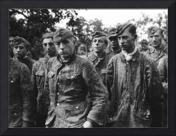 German boy soldiers of the Waffen SS, taken prison