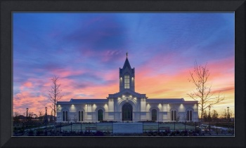 Ft  Collins Temple Sunrise #3 by Kelly Jones