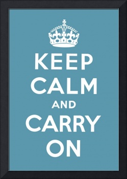 Blue Keep Calm And Carry On 7