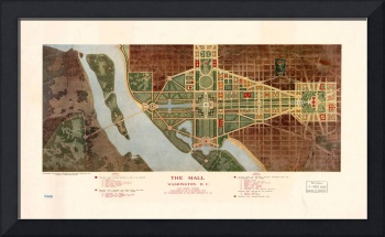 The Mall, Washington D.C. Map (1915)