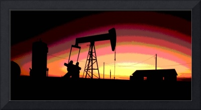 Oil Well Pump Station-Oil Gas Industry-Framed