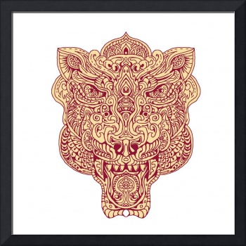 Tiger Head Mandala