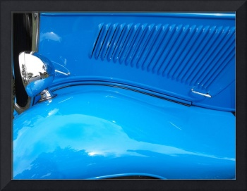 Vivid Blue Hot Rod