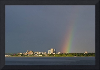 Rainbow over Anchorage, Summer, Southcentral Alask