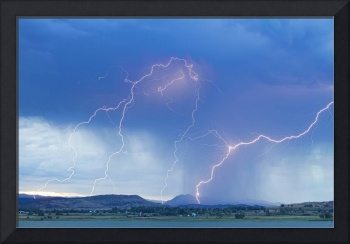 Rocky Mountain Foothills Lightning Strikes