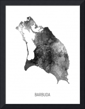 Barbuda Watercolor Map