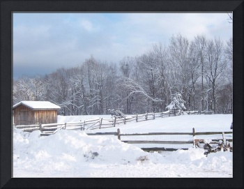 Winter in the New York mountains