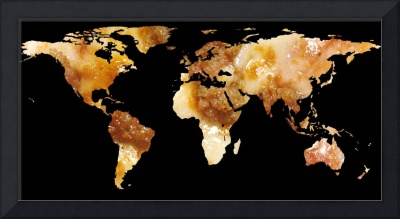World Map Silhouette - Sausage Pizza
