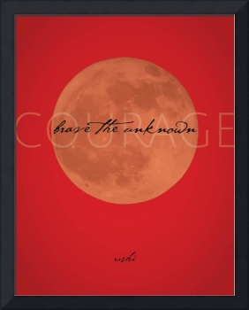 Brave the Unknown Moonlight in Red