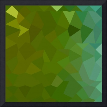 Dark Pastel Green Abstract Low Polygon Background