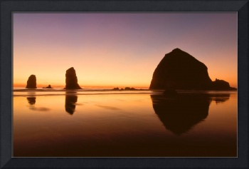 Nightfall at Cannon Beach