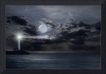 Lighthouse Moonrise