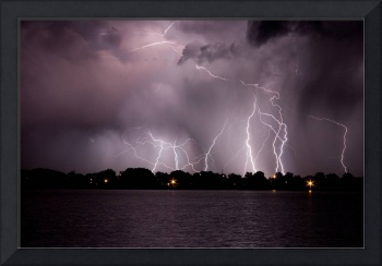 Thunder Lightning Storm at the Lake