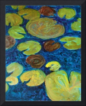 Turquoise Waters 1, Abstract Waterlily Series