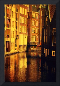 Golden Hour Reflections in Amsterdam