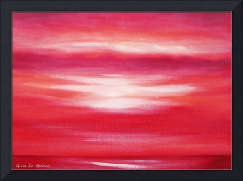 Red Abstract Sunset