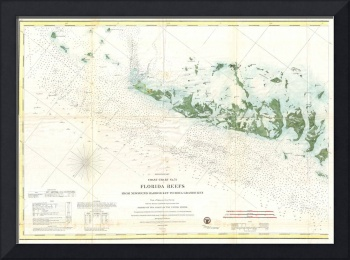 Vintage Map of The Florida Keys (1859) 2