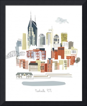 Nashville Modern Cityscape Illustration
