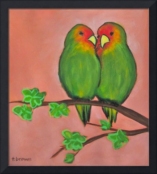 lovebirds - zeke and zoe