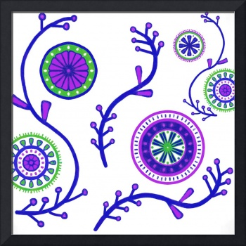 Purple Green Boho Mandalas