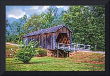 8422PS Old Covered Bridge In Georgia