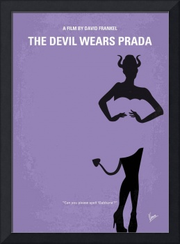 No661 My The Devil Wears Prada minimal movie poste